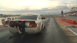 HD2009-6-21-12 Mustang hard launch and recovery Stock Video Footage