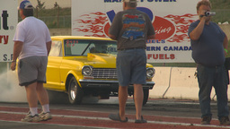 HD2009-6-21-16 old chev nova burnout Stock Video Footage
