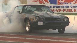 HD2009-6-21-22 camaro burnout Stock Video Footage
