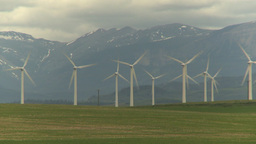 HD2009-6-22-3 Wind turbines Stock Video Footage