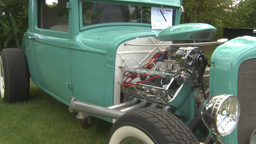 HD2009-6-22-7b green hotrod montage Stock Video Footage
