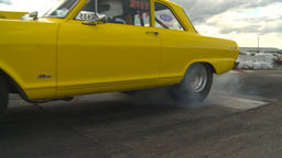 HD2009-6-22-12 motorsports, drag racing yellow nova burnout Footage