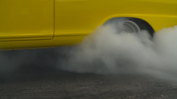 HD2009-6-22-12 motorsports, drag racing yellow nova burnout Stock Video Footage