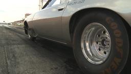 HD2009-6-22-16 motorsports, drag racing silver camaro... Stock Video Footage