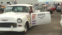 HD2009-6-22-18 motorsports, drag racing, racers waiting in staging lanes Footage