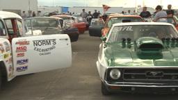 HD2009-6-22-18 motorsports, drag racing, racers waiting... Stock Video Footage