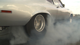HD2009-6-22-20 motorsports, drag racing silver nova burnout Stock Video Footage