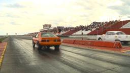 HD2009-6-22-22 motorsports, drag racing snap zoom back Stock Video Footage