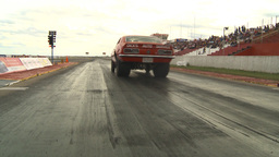 HD2009-6-22-26 motorsports, drag racing red camaro launch Stock Video Footage
