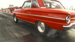 HD2009-6-22-32 motorsports, drag racing red Falcon... Stock Video Footage