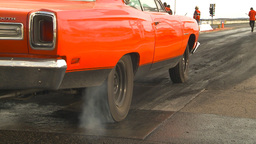 HD2009-6-22-34 motorsports, drag racing red plymouth... Stock Video Footage