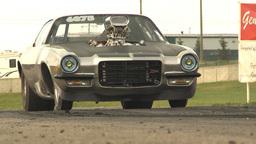 HD2009-6-22-35 motorsports, drag racing camaro burnout Stock Video Footage