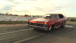 HD2009-6-22-37 motorsports, drag racing nostalgia nova... Stock Video Footage