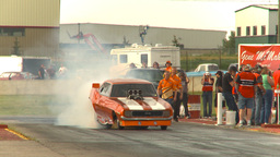 HD2009-6-22-39 motorsports, drag racing nostalgia camaro... Stock Video Footage