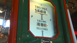 HD2009-6-23-1 Old gas pumps 3-shot Stock Video Footage
