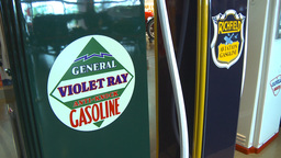HD2009-6-23-3 Old gas pumps 3-shot Footage