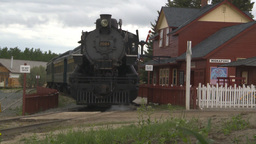 HD2009-6-23-15 steam train at station Footage