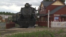 HD2009-6-23-15 steam train at station Stock Video Footage