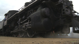 HD2009-6-23-19 old steam train Stock Video Footage