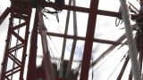 HD2009-6-24-7 Old Ferris Wheel stock footage