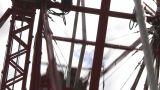 HD2009-6-24-7 Old Ferris Wheel stock footage