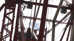 HD2009-6-24-7 old ferris wheel Stock Video Footage