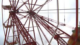 HD2009-6-24-9 old ferris wheel Stock Video Footage