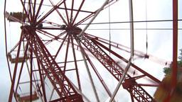 HD2009-6-24-9 old ferris wheel Footage