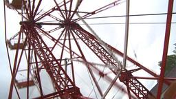 HD2009-6-24-9 old ferris wheel Stock Video Footage