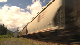 HD2009-6-22-3 fast freight train Footage