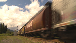 HD2009-6-22-3 fast freight train Stock Video Footage