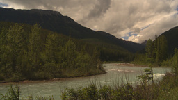 HD2009-6-22-11 river mountains Footage