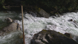 HD2009-6-22-17 wild river overhead Stock Video Footage