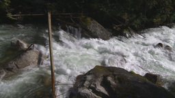 HD2009-6-22-17 wild river overhead Stock Video Footage