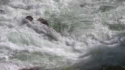 HD2009-6-22-19 wild river overhead Stock Video Footage