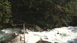 HD2009-6-22-23 wild river overhead Stock Video Footage
