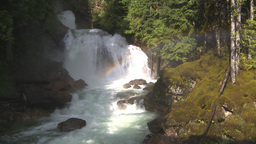 HD2009-6-22-25 crazy creek waterfall rainbow Stock Video Footage