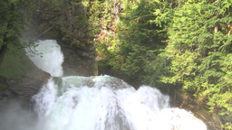 HD2009-6-22-27 crazy creek waterfall shadows in out Stock Video Footage