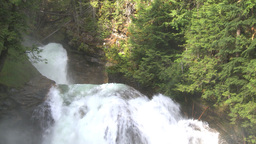 HD2009-6-22-27 crazy creek waterfall shadows in out Footage