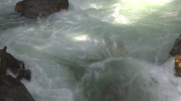 HD2009-6-22-29 crazy creek waterfall rainbow tilt up Stock Video Footage