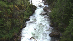 HD2009-6-22-37 wild river overhead Stock Video Footage