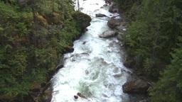 HD2009-6-22-37 wild river overhead Stock Video Footage