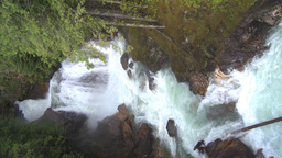 HD2009-6-22-39 VERTICAL crazy creek waterfall Stock Video Footage