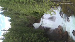 HD2009-6-22-41 VERTICAL crazy creek waterfall Stock Video Footage