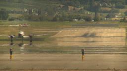 HD2009-6-26-15 air ambulance twin prop takeoff LLL Footage