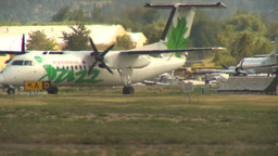HD2009-6-26-17 Dash8 taxi LLL Stock Video Footage