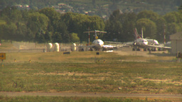 HD2009-6-26-21 B737 taxi LLL Stock Video Footage