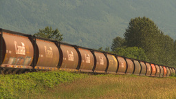 HD2009-6-27-7 freight train Stock Video Footage