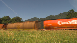 HD2009-6-27-9 freight train Stock Video Footage