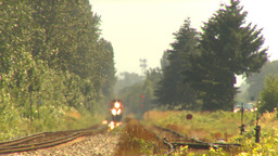 HD2009-6-27-13 oncoming freight train LLL Stock Video Footage